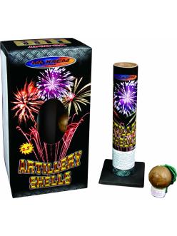 """Фестивальные шары ARTILLERY SHELLS в упаковке 6 зарядов 2,5"""" дюйма (64 мм.) калибр + мортира высота 70 метров в Рязани по низким ценам"""