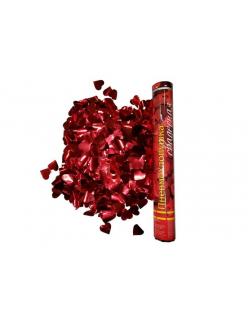 Пневмохлопушка конфетти красные сердца Длина баллона 10 см Длина трубы 40 см. в Рязани по низким ценам