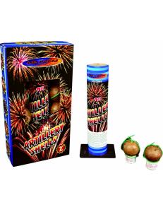 """Фестивальные шары ARTILLERY SHELLS в упаковке 8 зарядов 2"""" дюйма (50 мм.) калибр + мортира высота 60 метров"""