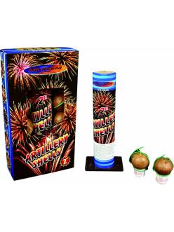 """Фестивальные шары ARTILLERY SHELLS в упаковке 8 зарядов 2"""" дюйма (50 мм.) калибр + мортира высота 60 метров в Рязани по низким ценам"""