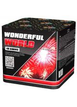 "Салют WONDERFUL WORLD 1,2"" дюйма (30 мм.) калибр 19 залпов 5 эффектов + ВЕЕР"